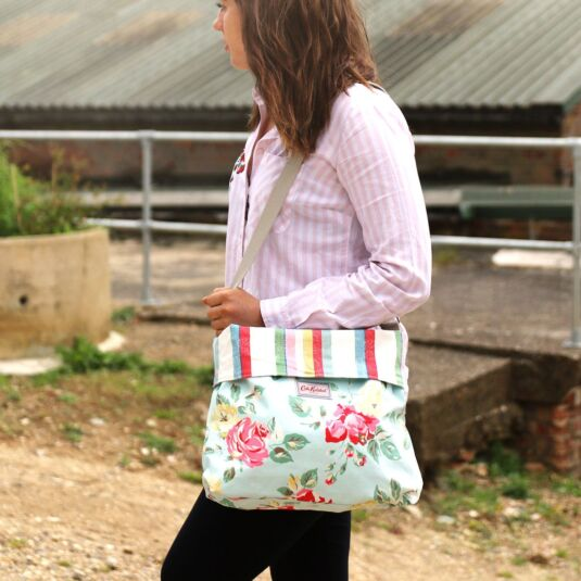 Box Flora Reversible Folded Messenger Bag