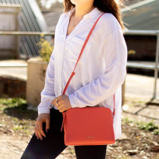 Pink Maltby Leather Cross Body Bag