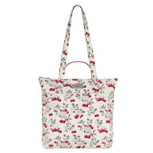 Cherry Sprig Cotton Double Handled Tote Bag