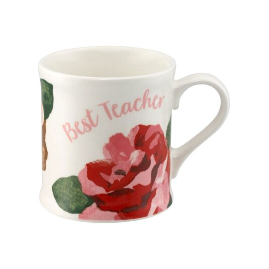 Chiswick Rose Best Teacher Boxed Mug