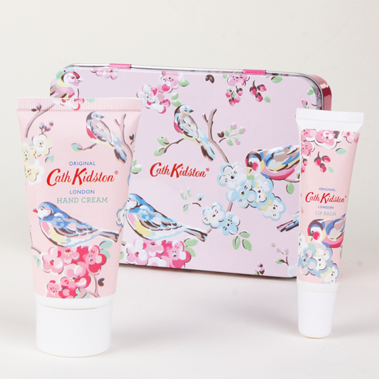 Cath Kidston Wedding Gift List : Cath Kidston Blossom Birds Hand And Lip Set In Tin Pink Campus Gifts