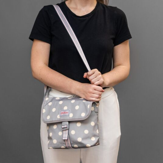 Button Spot Buckle Cross Body Bag