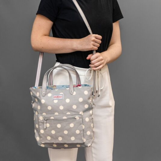 Button Spot Reversible Cross Body Bag