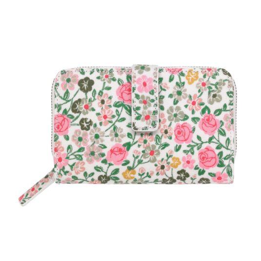 Hedge Rose Folded Zip Wallet