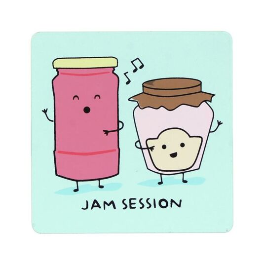 For The Pun Of It Jam Session Coaster