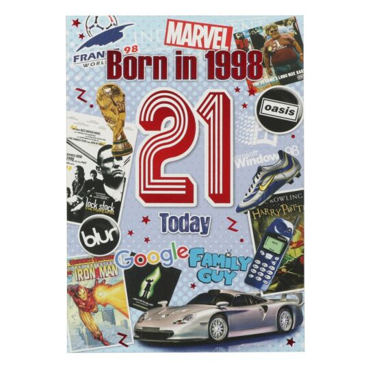 Down Memory Lane Blue '21 Today' Card