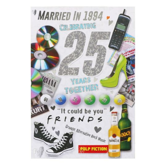 Down Memory Lane 25th Anniversary Card
