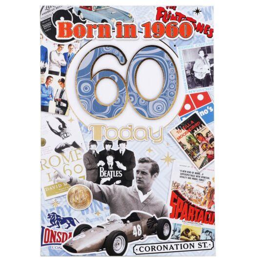 Down Memory Lane Blue '60 Today' Card