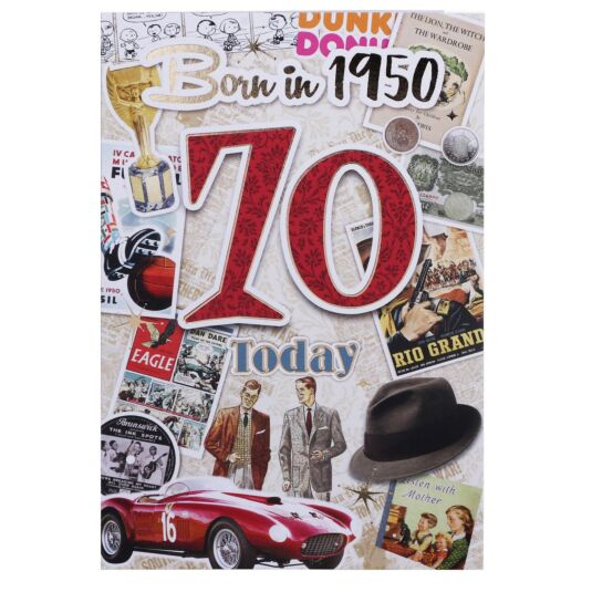 Down Memory Lane Red '70 Today' Card