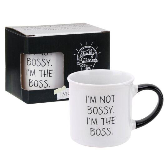 Strictly Business 'I'm The Boss' Boxed Mug