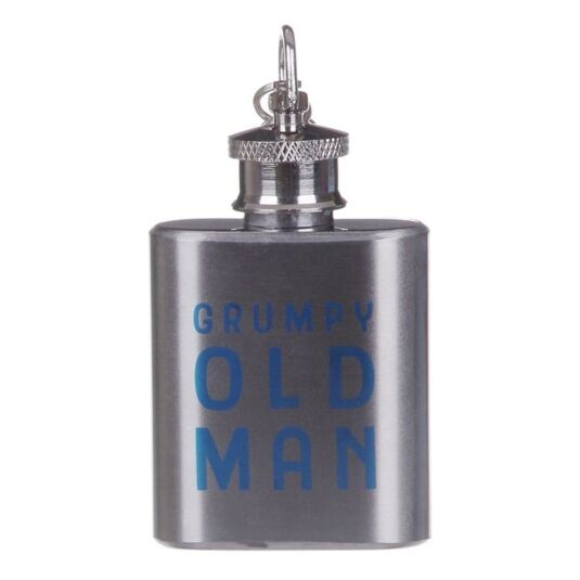 'Grumpy Old Man' Mini Hip-Flask Keyring