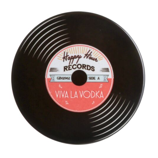 'Viva La Vodka' Record Coaster