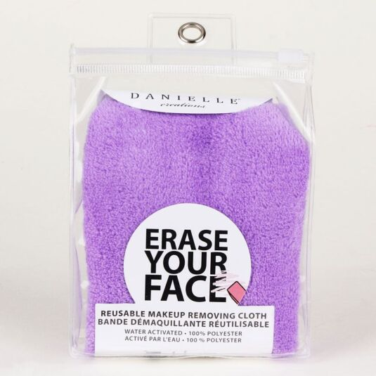 Purple Erase Your Face Makeup Removing Cloth