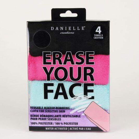 Set of 4 Erase Your Face Cloths