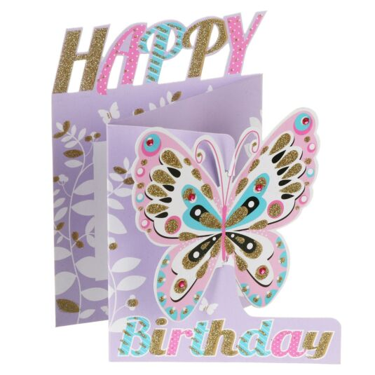 Happy Birthday Butterfly 3D Card