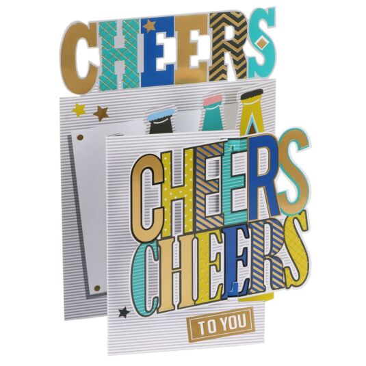 'Cheers to You' 3D Birthday Card