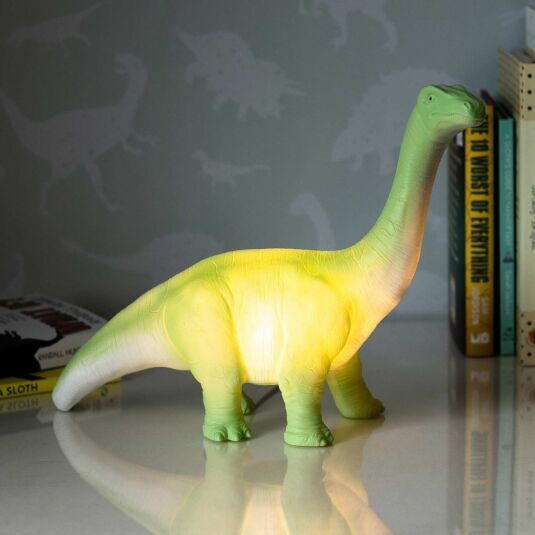 Large Green Diplodocus Lamp