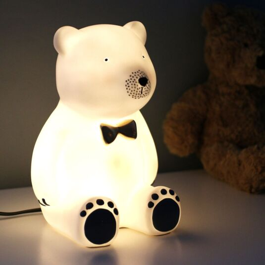 Large Bear With Bow Tie Lamp