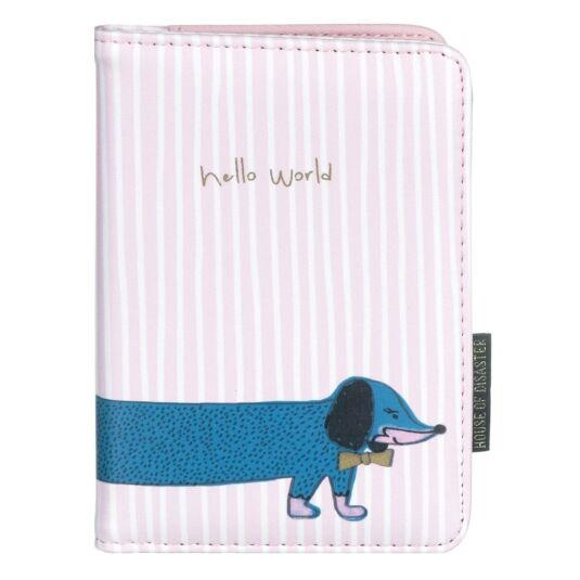 Over The Moon Sausage Dog Passport Holder