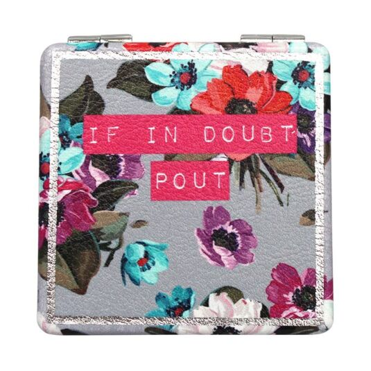 Petal 'If In Doubt' Compact Mirror