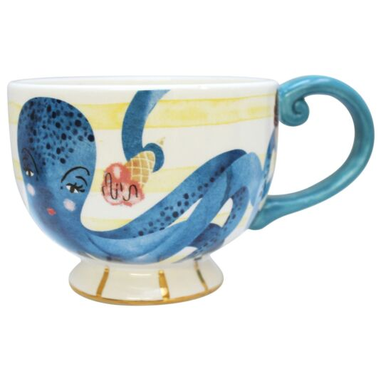 By The Sea Octopus Tea Cup with Gift Box