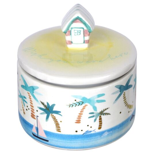 By The Sea Beach Hut Jar with Gift Box