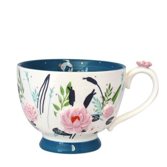 Secret Garden Swan Teacup with Gift Box