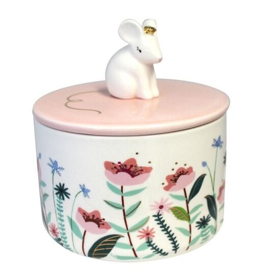 Secret Garden Mouse Jar with Gift Box