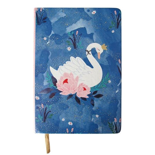 Secret Garden Swan A5 Notebook