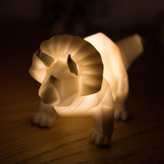 Small LED White Dinosaur Origami Light