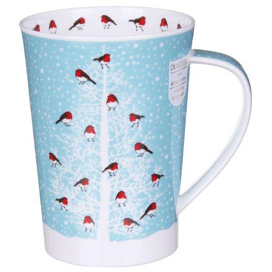 Snow Flurry Robin Argyll Shape Mug