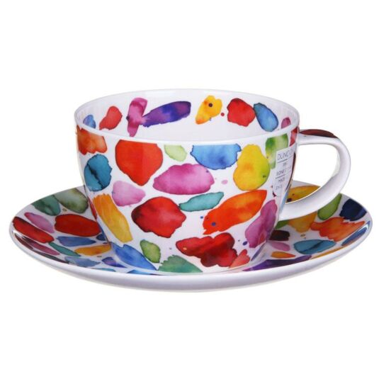 Blobs Breakfast Cup and Saucer
