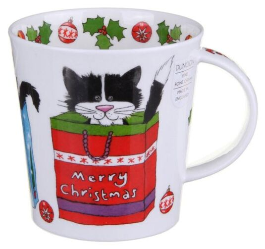 Christmas Cats Cairngorm shape Mug