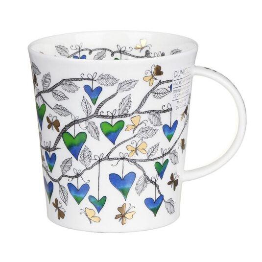 Tree of Hearts Blue Lomond Shape Mug