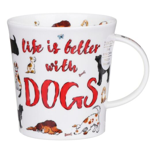 Slogans Dogs Lomond Shape Mug