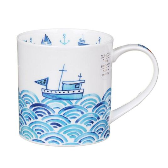 Anchors Away Orkney Shape Mug