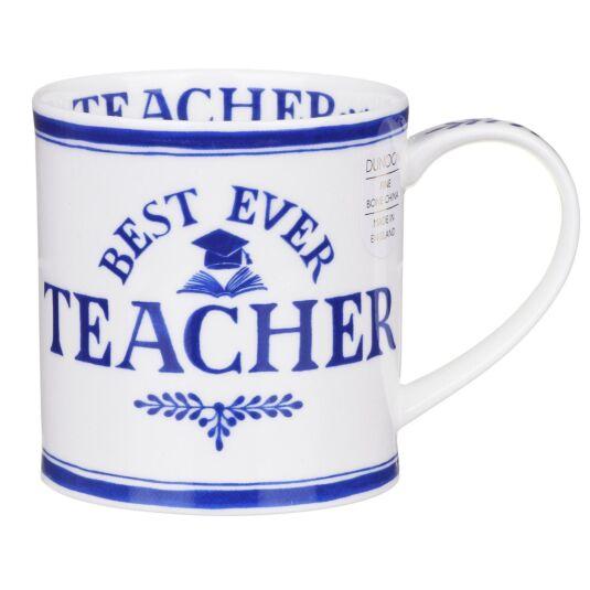 Best Ever Teacher Orkney Shape Mug
