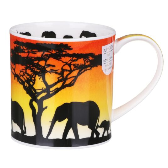 Savannah Elephant Orkney Shape Mug