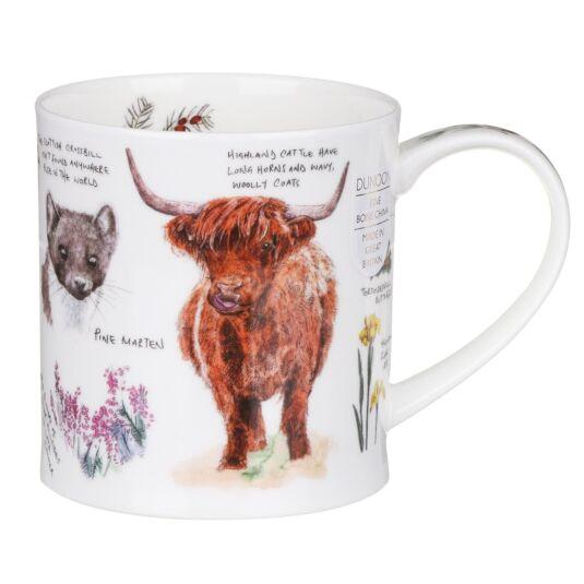 Scottish Notebook Highland Cow Orkney Shape Mug
