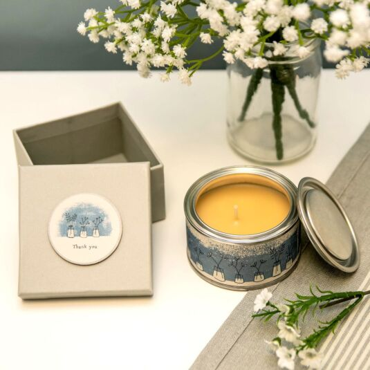 'Thank You' - Spiced Orange Boxed Candle