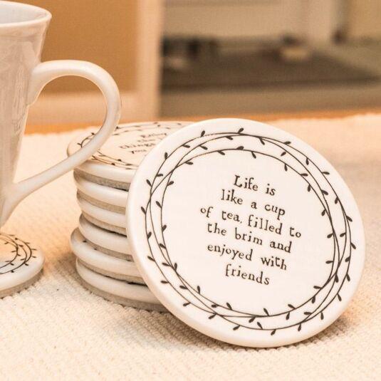 Life is Like a Cup of Tea… Porcelain Leaf Coaster