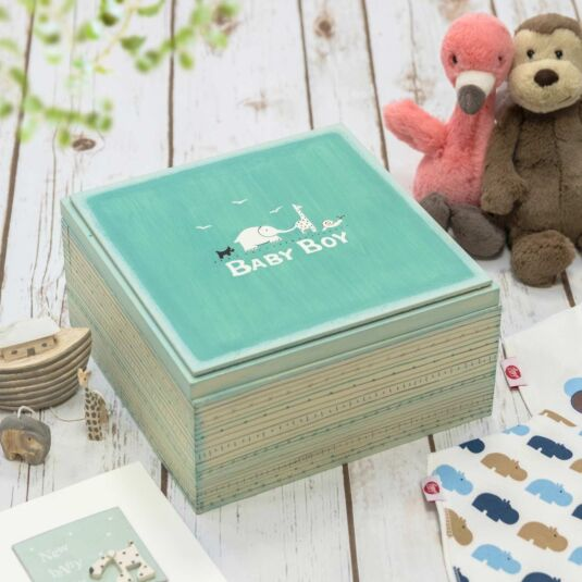 Blue 'Baby Boy' Keepsake Box