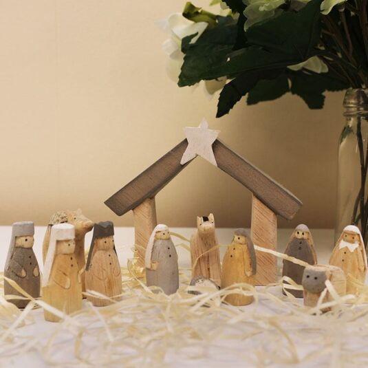 Natural Little Boxed Nativity Set