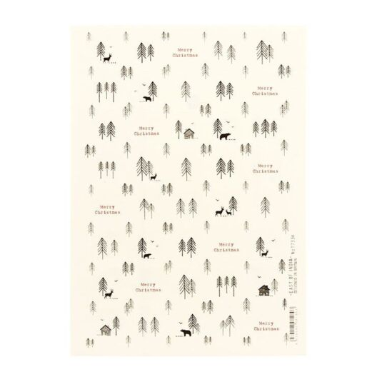 Christmas Forest Red and Cream Sticker Sheet