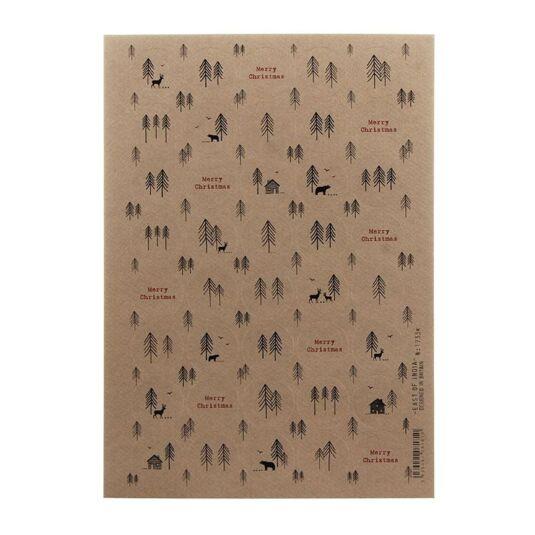 Christmas Forest Kraft Sticker Sheet