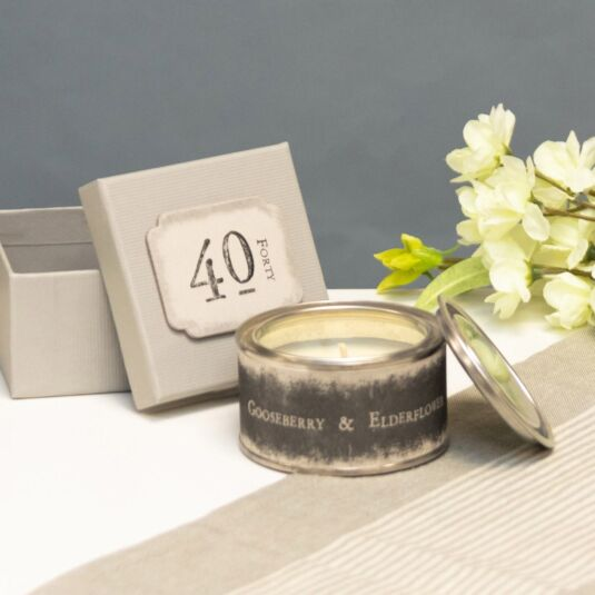 '40' Boxed Candle