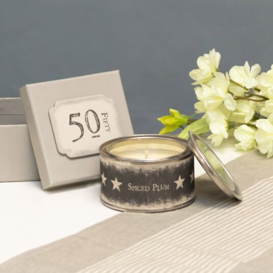 '50' Boxed Candle