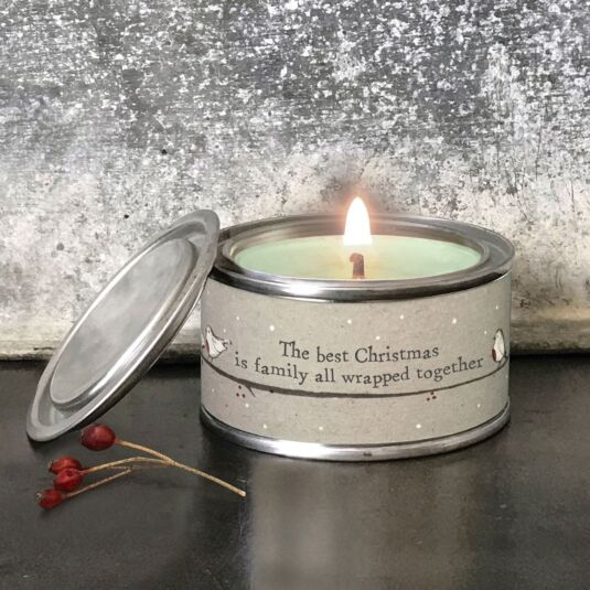 'All Wrapped Up' Christmas Candle