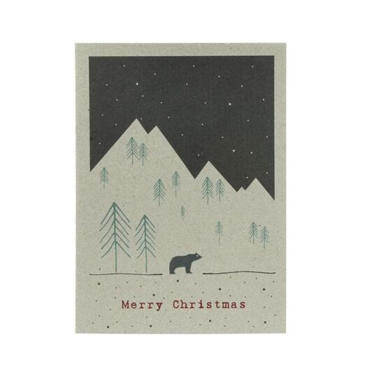 Winterland Card – Mountain Bear