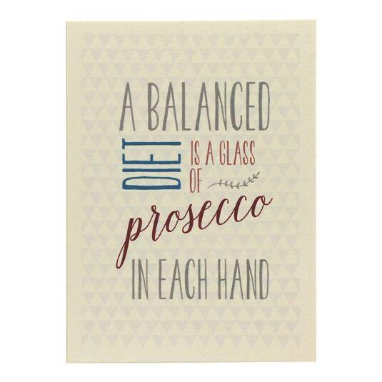 'A Balanced Diet' Card